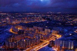Фото города Люберцы ночью.