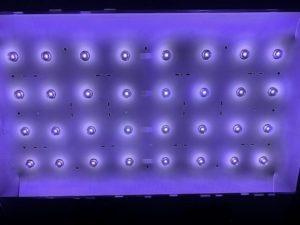 Работающая подсветка жидкокристаллического телевизора LG
